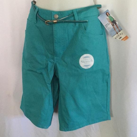 Riders by Lee Pants - Lee Riders sz 14 Aqua green Bermuda shorts w tag